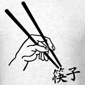 Ash  Chopsticks - Chinese Men - Men's T-Shirt