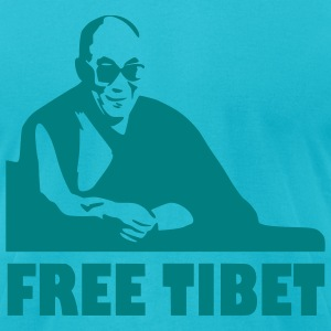 Turquoise Free Tibet - China -   Games Men - Men's T-Shirt by American Apparel