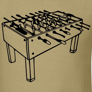Khaki Football Table - Foosball Table Men - Men's T-Shirt