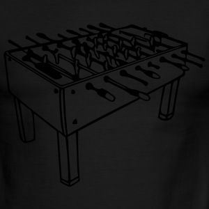 Sky/navy Football Table - Foosball Table Men - Men's Ringer T-Shirt