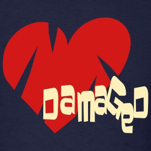Navy Damaged Heart Men - Men's T-Shirt