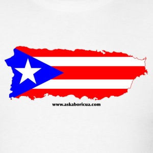 White Ask A Boricua! Men - Men's T-Shirt
