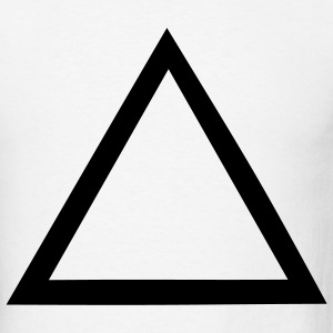 White Triangle - Symbol - Sign Men - Men's T-Shirt