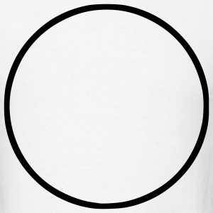White Circle - Symbol - Sign - Shape Men - Men's T-Shirt