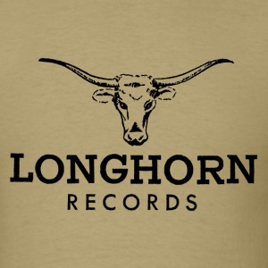 Khaki Longhorn Records Men - Men's T-Shirt