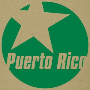 Khaki puerto rico star Men - Men's T-Shirt