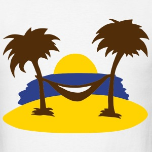 White Beach - Summer - Sun - Ocean - Sea - Holiday - Palms Men - Men's T-Shirt
