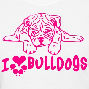 White bulldoggielove2 Women - Women's T-Shirt