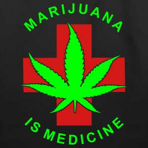 marijuana is medicine - Eco-Friendly Cotton Tote