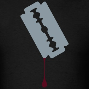 Razor Blade Dripping Blood - Men's T-Shirt
