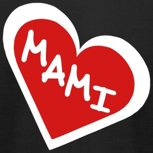 Black Mami in 2-Color Heart Men - Men's T-Shirt by American Apparel