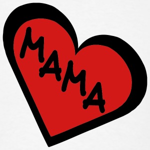 White Mama in 2-Color Heart Men - Men's T-Shirt