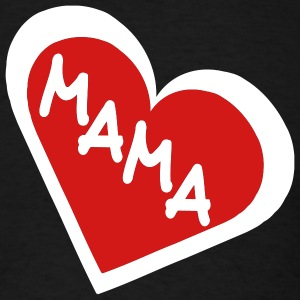 Black Mama in 2-Color Heart Men - Men's T-Shirt