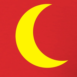 Red yellow moon Men - Men's T-Shirt