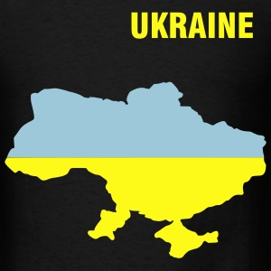 Black Ukraine flag map Men - Men's T-Shirt