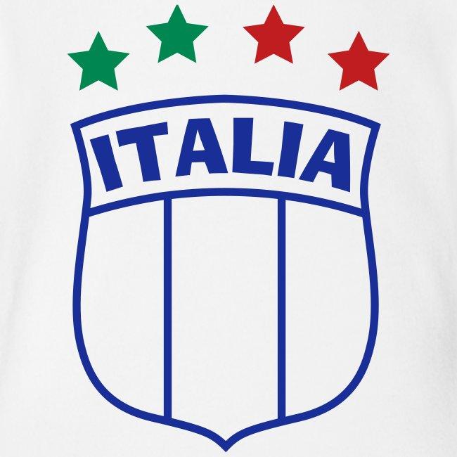 Infant ITALIA Shield 4-Star Onesy, white