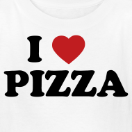 Design ~ Kids I Love Pizza, White
