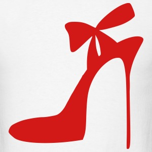 White Highheels - Shoes - Fashion - Women Men - Men's T-Shirt