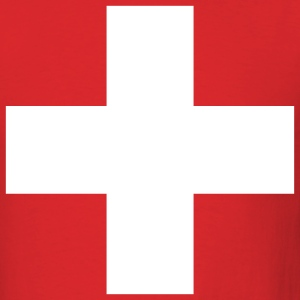 Red Swiss Cross - Cross - Switzerland - Symbol Men - Men's T-Shirt
