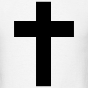 White The Cross - cross - jesus - god - Bible - Church Men - Men's T-Shirt