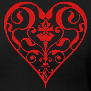 Black heart Women - Women's V-Neck T-Shirt