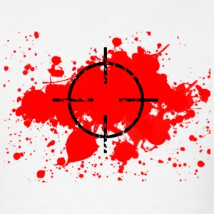 CROSSHAIRS & BLOOD SPLATTER T-SHIRT - Men's T-Shirt