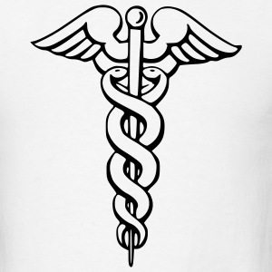 White Caduceus - Medicine - Doctor – Symbol Men - Men's T-Shirt