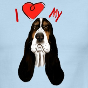 I Love My Basset Hound - Men's Ringer T-Shirt