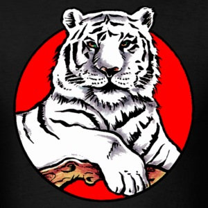 Black white tiger Men - Men's T-Shirt