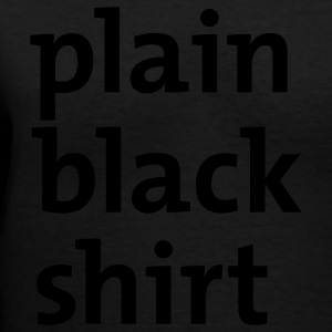 Black plain black shirt Women - Women's V-Neck T-Shirt