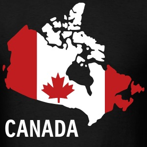 Black Canada flag map Men - Men's T-Shirt