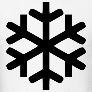 White Snowflake - Snow - Winter - Winter Sports Men - Men's T-Shirt