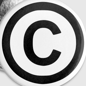 White Copyright - Copyleft - Symbol - Sign Accessories - Small Buttons