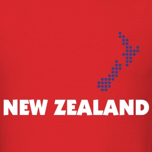Red New Zealand Men - Men's T-Shirt