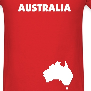 Red Australia pixel map Men - Men's T-Shirt