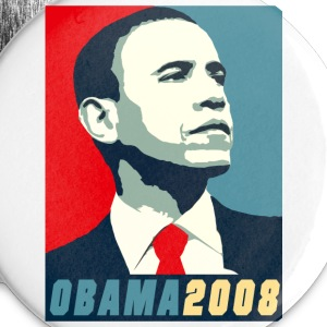 VOTE FOR BARACK OBAMA 2008 DESIGN - Large Buttons