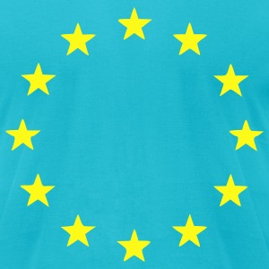 Turquoise EU - European Union - Europe - Flag - Stars Men - Men's T-Shirt by American Apparel
