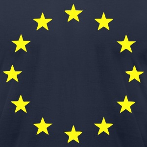 Navy EU - European Union - Europe - Flag - Stars Men - Men's T-Shirt by American Apparel