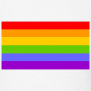 White Rainbow Flag - Gay - Lesbian - Homosexual Men - Men's T-Shirt