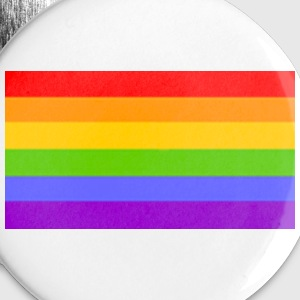White Rainbow Flag - Gay - Lesbian - Homosexual Accessories - Large Buttons