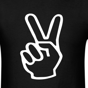 V-sign Peace! - Men's T-Shirt