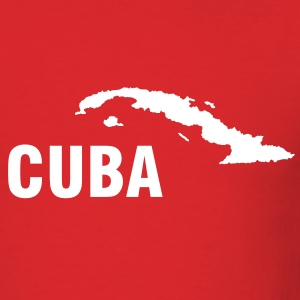 Red Cuba map Men - Men's T-Shirt