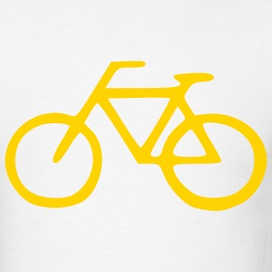 White Cruiser Bike - Bicycle - Cycling – Sports Men - Men's T-Shirt