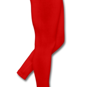 Red Text - Message – Saying Plus Size - Leggings by American Apparel