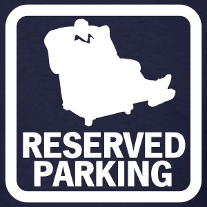 Navy Dad's Reserved Parking Men - Men's T-Shirt