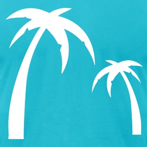 Turquoise Palm - Summer -Sun - Sea - Ocean – Beach Men - Men's T-Shirt by American Apparel