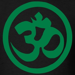 Black Om Symbol - Buddhism - Yoga Men - Men's T-Shirt
