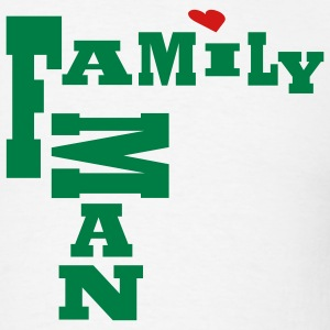 White Family Man, No Background Men - Men's T-Shirt
