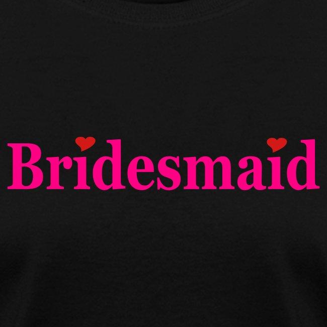 Bridesmaid - Black with Hot Pink