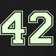 Design ~ Glow-in-the-Dark - HITCHHIKER'S GUIDE 42 T-SHIRT